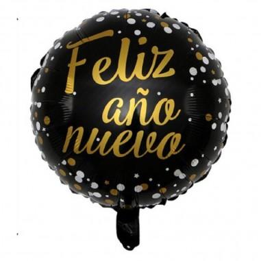 Globo Redondo Feliz Año Nuevo  Decoración Año Nuevo
