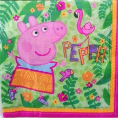 Servilleta Peppa Pig x 12  Cotillón Peppa Pig