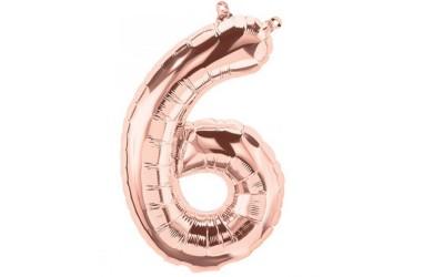 Globo Metálico Números Rose Gold 70 cm Cotillón Activarte Globos Metálicos