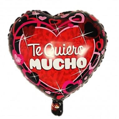 Globo Metálico Te Quiero Mucho  Cotillón Día de los Enamorados