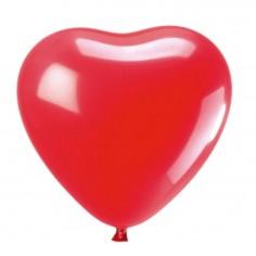 Globo Látex Corazón Rojo x 12  Cotillón Día de los Enamorados