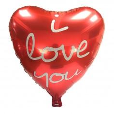 """Globo Metálico Corazón """"I Love You""""  Cotillón Día de los Enamorados"""