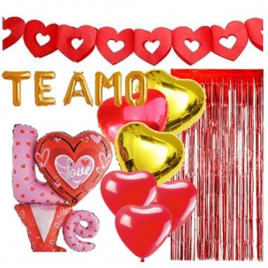 Set Decoración San Valentín  Cotillón Día de los Enamorados