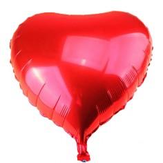 Globo Metálico Corazón 25 cm x 6 un  Cotillón Día de los Enamorados