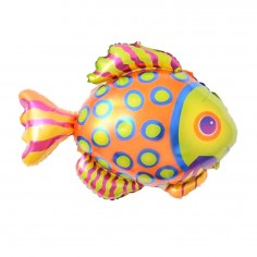 Globo Metálico Pescadito Colores  Cotillón Sirena