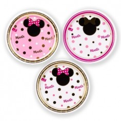Plato Minnie Mouse Dorado x 6 $ 1.900