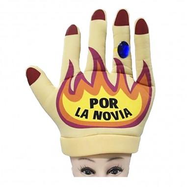 Gorro Manos al Fuego por la Novia  Gorros Cotillón Premium