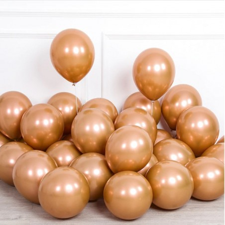 Globos Cromado Rose Gold Cobre R 11 x 6  Globos Diseños
