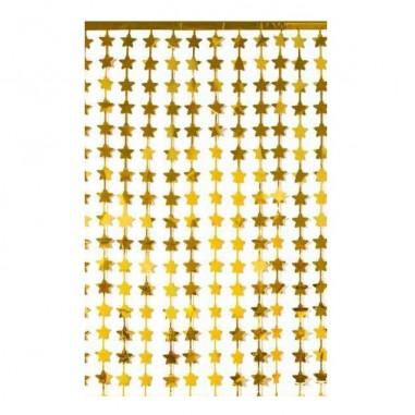 Cortina Metálica Estrellas  Guirnaldas y Colgantes