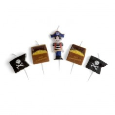 Vela Pirata x 5  Cotillón Pirata