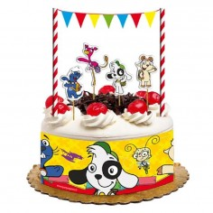 Deco Torta Cumpleaños Doki  Cotillón Doki