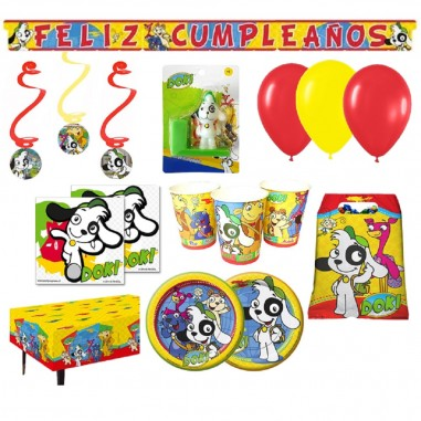 Pack Cumpleaños Doki x 36  Cotillón Doki