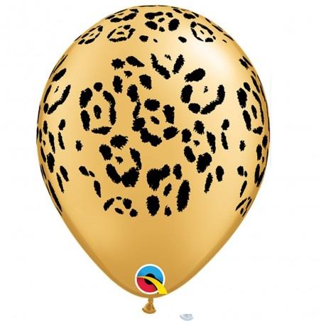 Globo Látex Safari Premium x 5  Cotillón Animalitos