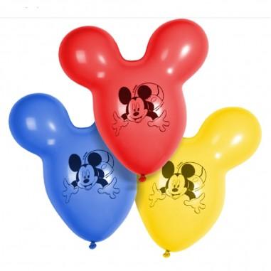 Globo Figura Mickey x 6  Cotillón Mickey Mouse