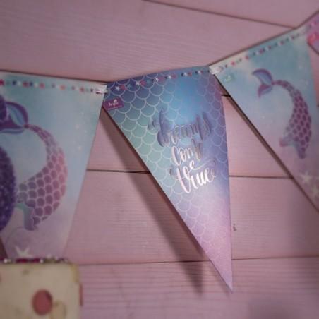Pack Cumpleaños Sirena Tornasol x 12  Cotillón Sirena