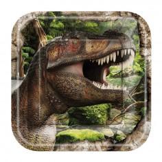 Platos Dinosaurio x 6  Cotillon Dinosaurio