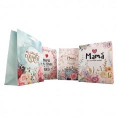 Bolsa Regalo Día de la Madre 25 x 31 cm  Cotillón Día de la Madre y Enamorados