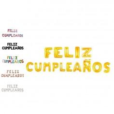 Globo Metálico Feliz Cumpleaños Colores  Globos Metálicos