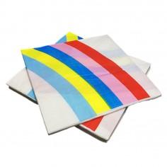 Servilleta Diseño Arcoíris x 20  Líneas Diseño