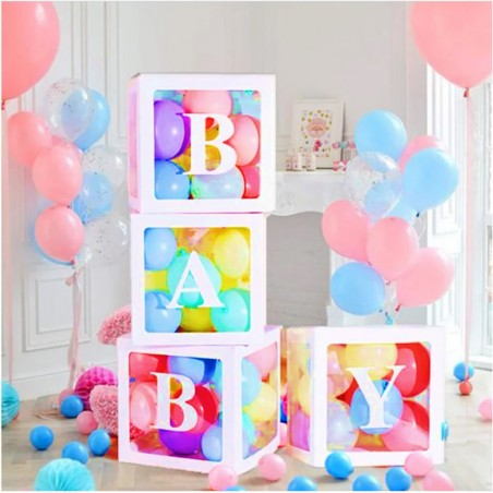 Caja de Decoración Baby Celeste  Baby Shower y más
