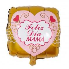 Globo Feliz Día Mamá Corazón  Cotillón Día de la Madre y Enamorados