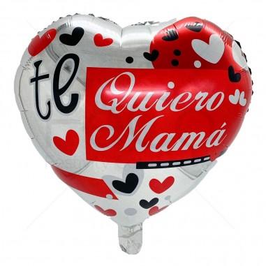 """Globo Corazón """"Te Quiero Mamá"""" Corazones  Cotillón Día de la Madre y Enamorados"""