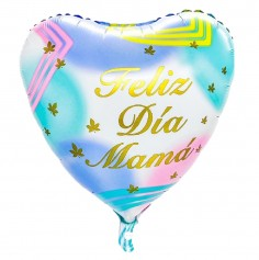 """Globo Corazón """"Feliz Día Mamá"""" Pastel  Cotillón Día de la Madre y Enamorados"""