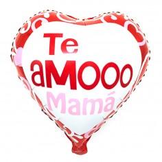 """Globo Corazón """"Te Amooo Mamá""""  Cotillón Día de la Madre y Enamorados"""