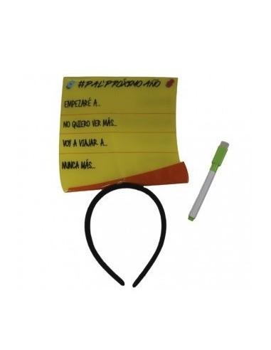 Cintillo Mensaje Check List  Accesorios Cotillón