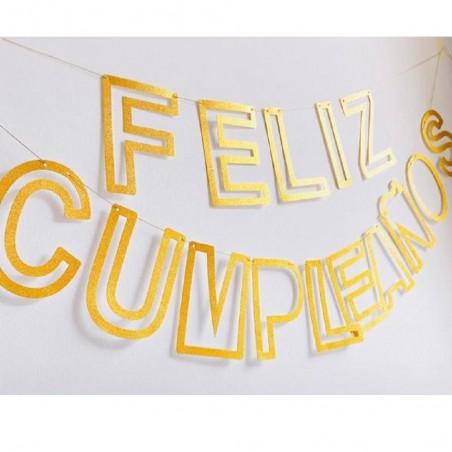 Guirnalda Feliz Cumpleaños Calada Cotillón Activarte Guirnaldas y Colgantes