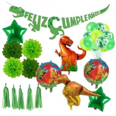 Pack Decoración Cumpleaños Dinosaurio  Pack de Cotillón Productos