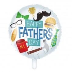 """Globo Metálico Día del Padre """"Fathers Day""""  Globos Diseños"""