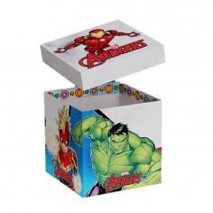 Caja Regalo Avengers 30 x 30 cm  Cotillon Avengers