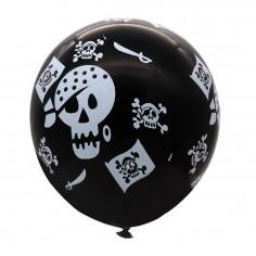 Globo Pirata x 6  Cotillón Pirata