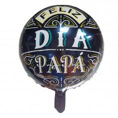 Globo Metálico Negro Feliz Día Papá  Globos Diseños