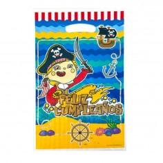 Bolsa Dulces Pirata x 6  Cotillón Pirata