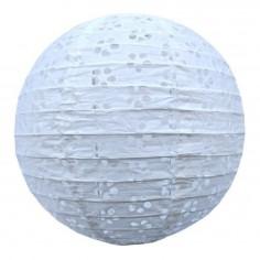 Pantalla Decoración 25 cms Blanca Calada  Guirnaldas y Colgantes