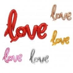 Globo Metálico Love  Cotillón Día del Padre/Madre/San Valentín