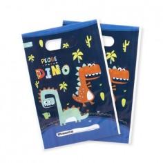 Bolsa Dulces Dinosaurio Azul x 6  Cotillon Dinosaurio