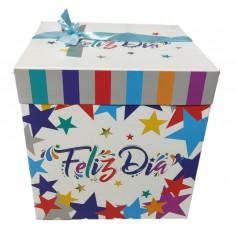 Caja Regalo Feliz Día Estrellas 22 x 22 cm  Cotillon Avengers