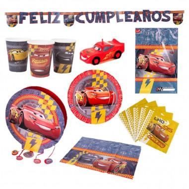 Pack Cumpleaños Cars x 6  Cotillón Cars