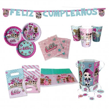 Pack Cumpleaños LOL x 12  Cotillón LOL