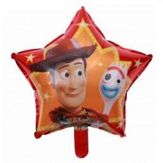 Globo Metálico Estrella Toy Story  Cotillón Toy Story