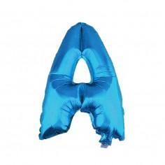 Globo Letras Azul 65 cm A-Z  Globos Metálicos