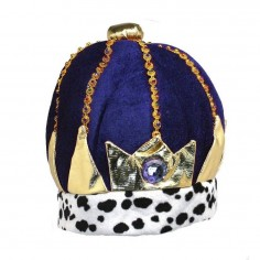 Gorro Corona Rey Azul  Gorros de Cotillón