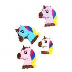 Goma de Borrar Unicornio x 8  Sorpresas