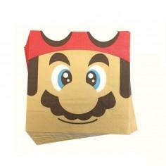 Servilletas Súper Mario x 12  Cotillón Mario Bros