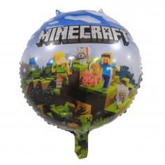 Globo Metálico Minecraft  Cotillón Minecraft
