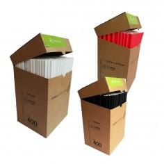 Bombilla Ecológica Papel x 400 Colores  Línea Ecológica