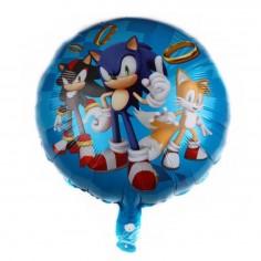 Globo Metálico Sonic  Cotillón Sonic
